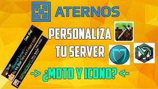 ATERNOS !! ¿ Como Colocar Un ICONO y un MOTD al Server? - Personaliza Tu Server [2016][Full]
