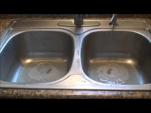 Easy way to clean a stainless steel sink