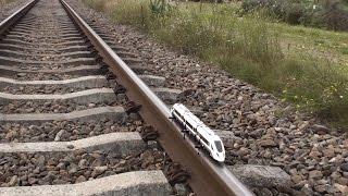 Lego train 60051 on real train tracks thumbnail