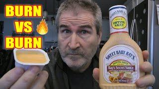 BURN VS BURN! Burger King Zesty Sauce Vs Ray's Secret Sauce Taste Test 🔥😱