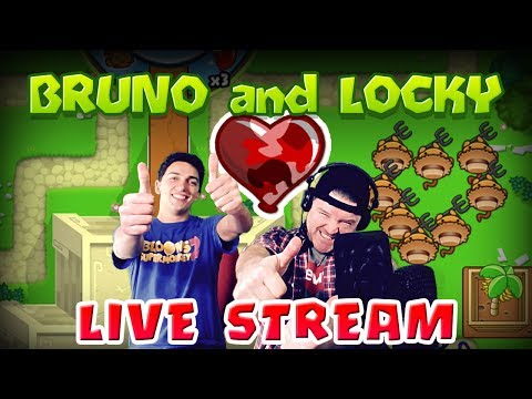 BRUNO and LOCKY LIVE!!  Playing Bloons TD Battles