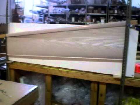 Motorized Trapezoid Honeycomb Shade Youtube