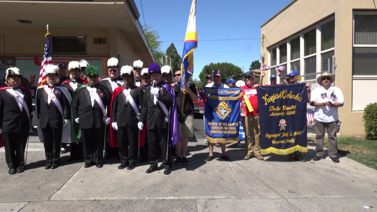 Concord 4th of July Parade 2017 Knights of Columbus - YouTube