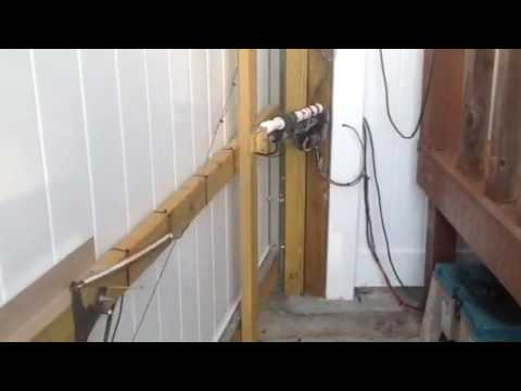 Homemade electric gate opener - YouTube