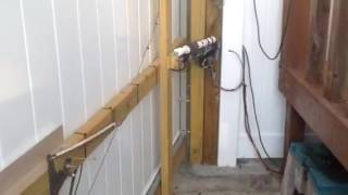 Homemade electric gate opener