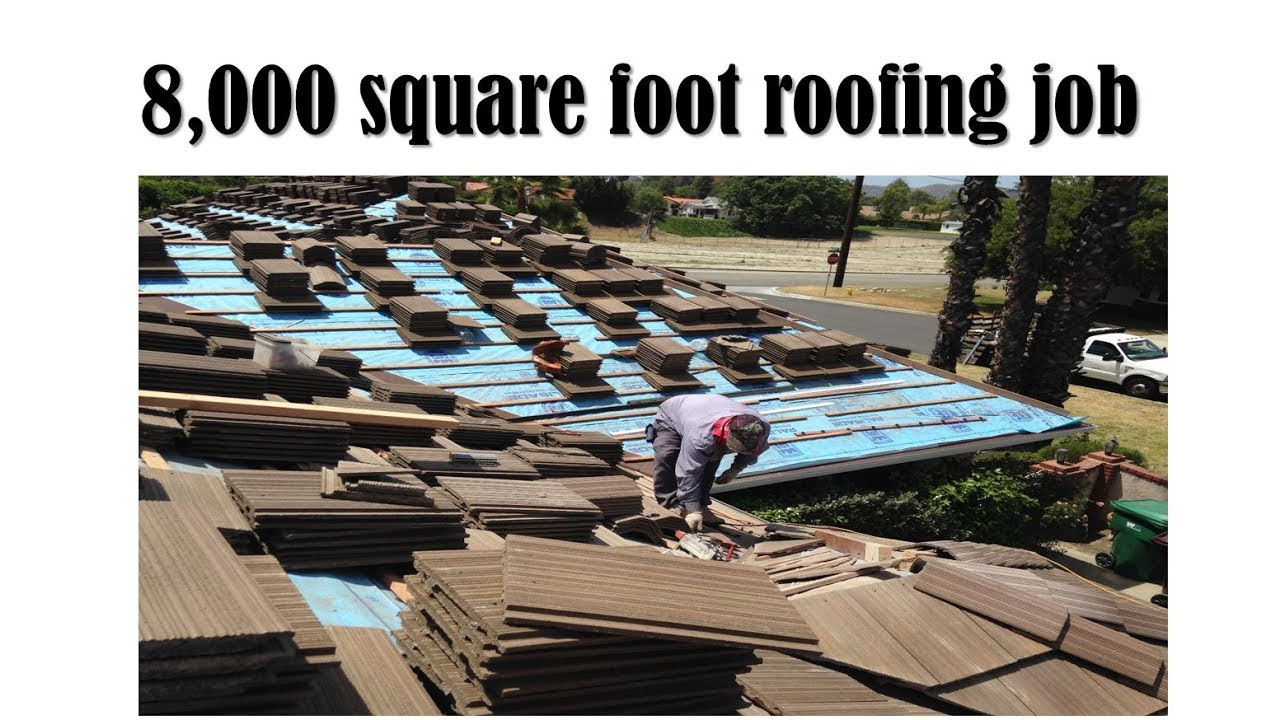Tile Roof Project 8 000 Square Foot Roof Tile Job Start To