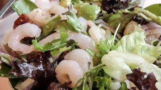 Весеннее настроение! Салат с креветками.