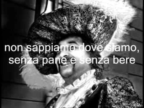 DON CHISCIOTTE Francesco Guccini, con testo in scorrimento