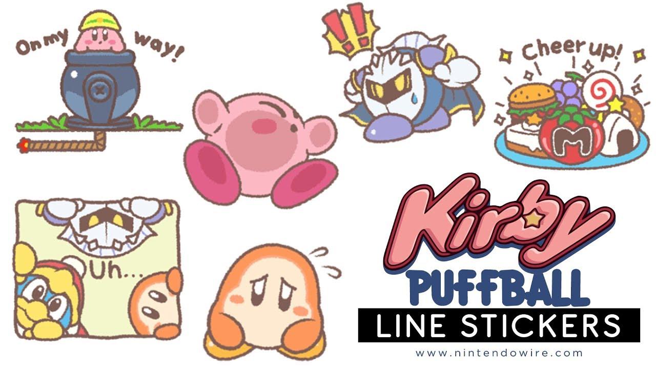 Kirby's Puffball Sticker Set | Line Sticker Showcase