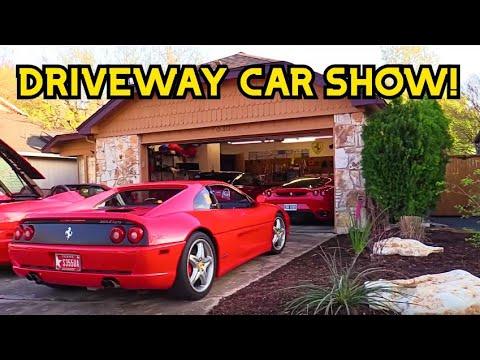 Mini Car show in my driveway - Ferrari F355, 360, F430, Porsche 911