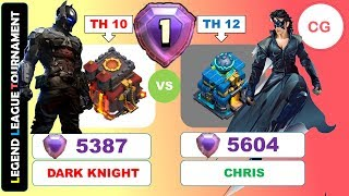 Batman vs Krrish - Who Will Win? TH10 v TH12 Legend League Attack 5300 Trophy | Clash of Clans