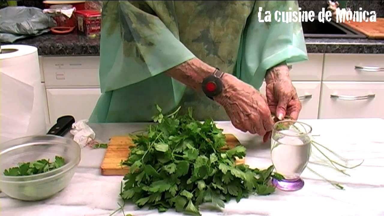 Comment conserver le persil astuce de mamy monica youtube for La cuisine de monica