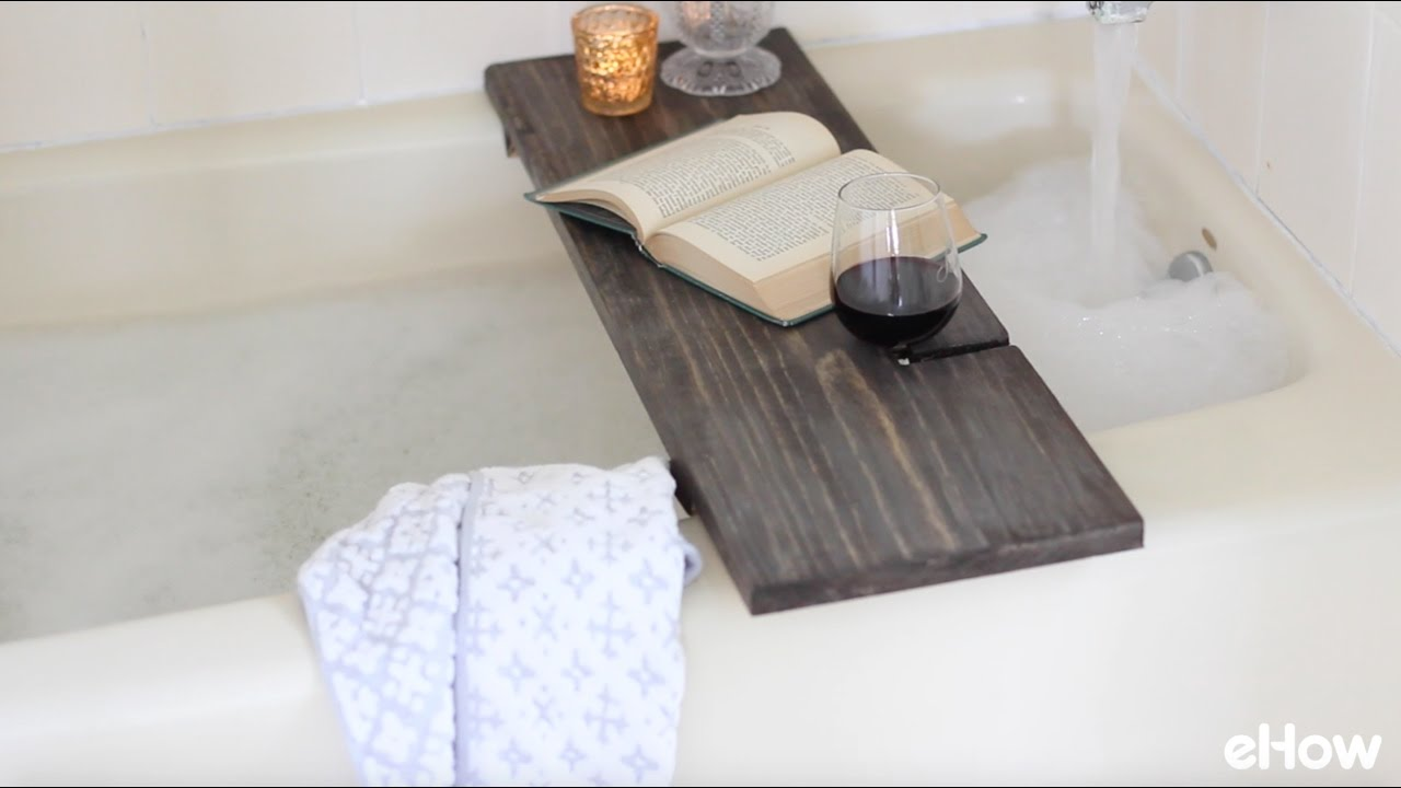 How To Make A Reclaimed Wood Bath Caddy - YouTube