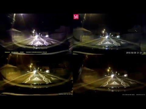XiaoMi dashcam vs Viofo A119 vs Shadow 1s vs Gitup - Night comparison test