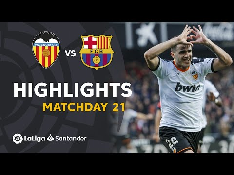 Highlights Valencia CF vs FC Barcelona (2-0)