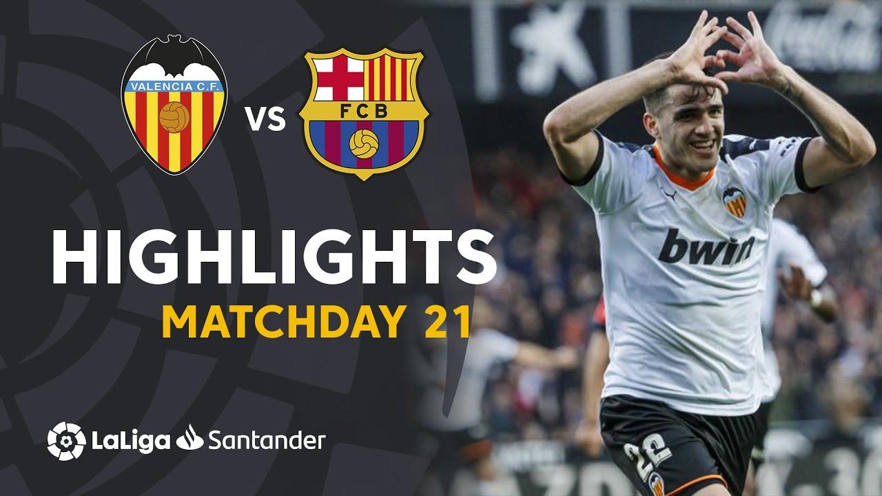 Highlights Valencia CF vs FC Barcelona (2-0)