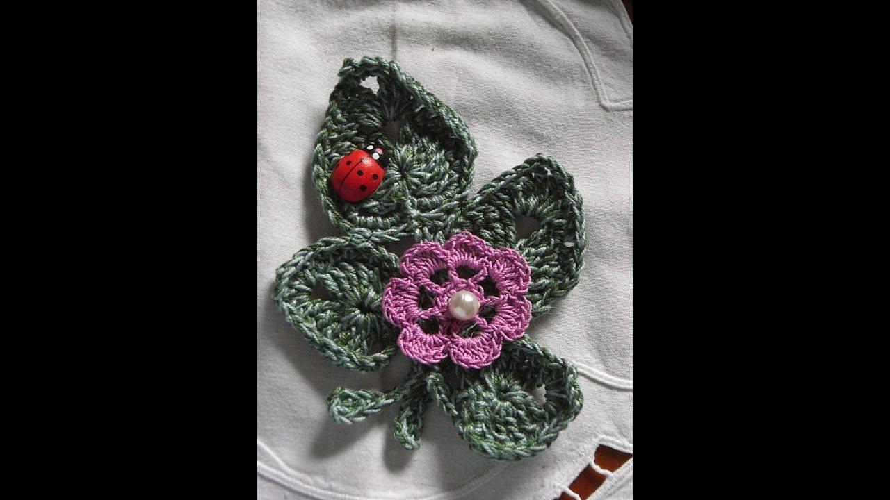 Motiv 5applikation Blätter Häkelncrochet Leaves Irish Lace