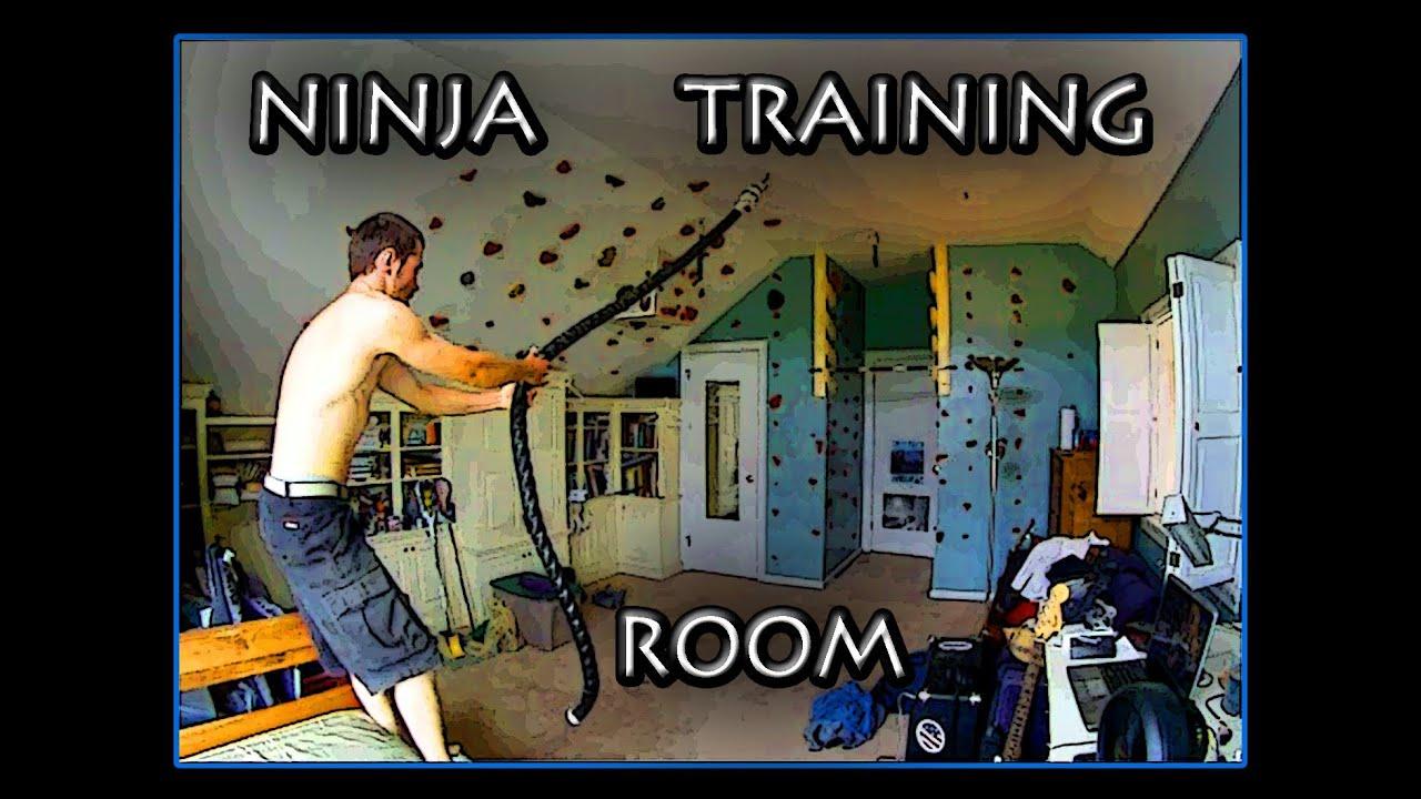 Backyard Ninja Warrior Plans : Ninja Warrior Training Room  YouTube