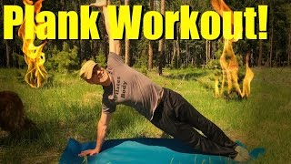 Total Body Plank Workout - All Levels No Equipment Core Exercises - How to Plank