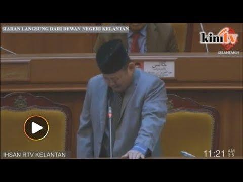 Ketua pembangkang Kelantan titis air mata keluar dewan