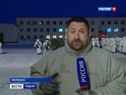 Заполярные будни морской пехоты.Посёлок Спутник.