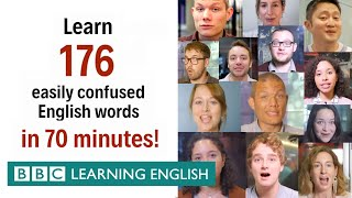 Learn 176 easily confused English words in 70 minutes!