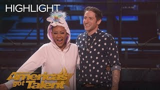 Samuel Comroe Judges Mel B As She Fails Epically At Stand Up Comedy   America's Got Talent 2018