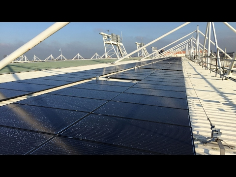 Halliwell Jones Stadium 80 kWp Solar PV Installation - Warrington Borough Council