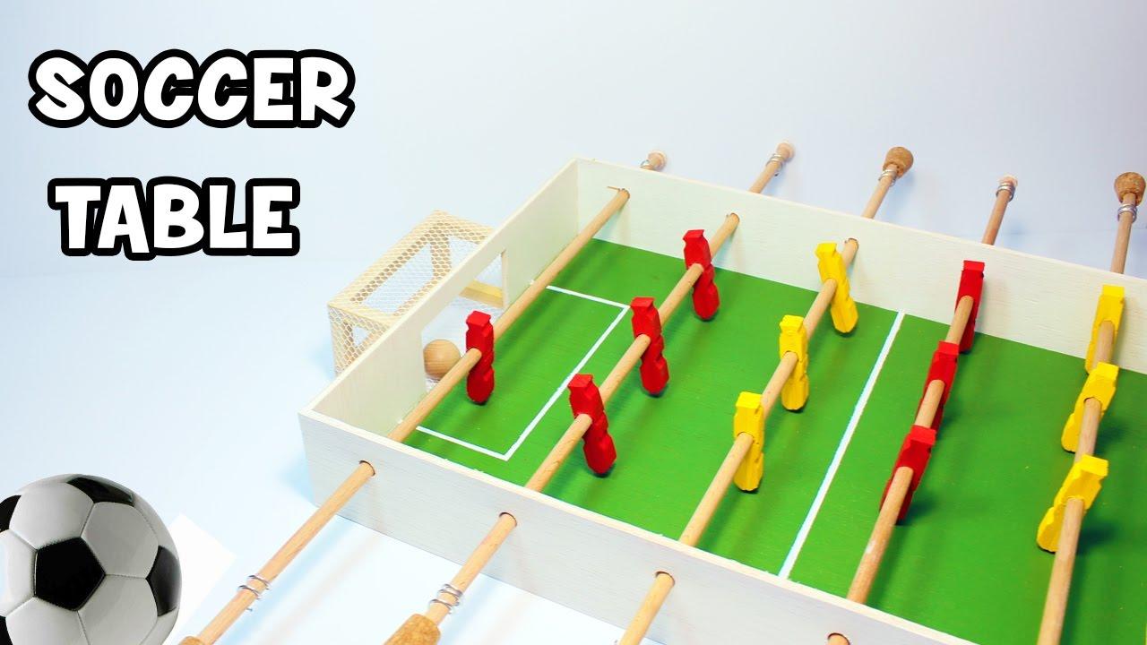 靴箱でテーブルサッカーゲームの作り方☆手作りおもちゃ!子供工作♪