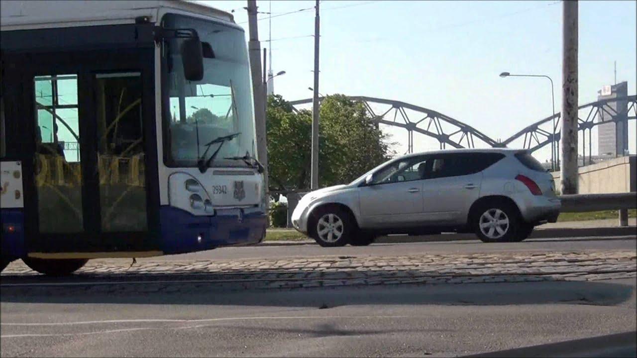 Rīgas satiksme traffic in Riga - YouTube