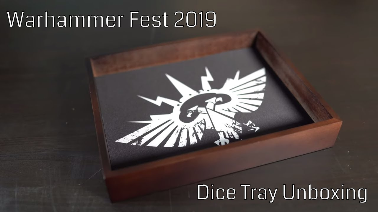 Warhammer Fest 2019 Unboxing Community Dice Tray Exclusive Event Only