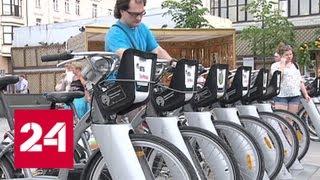 Популярность велопроката в Москве бьет все рекорды - Россия 24