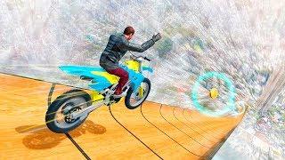 Bike games - Mega Ramp Moto Racing: Impossible Stunts Game - Gameplay Android free games