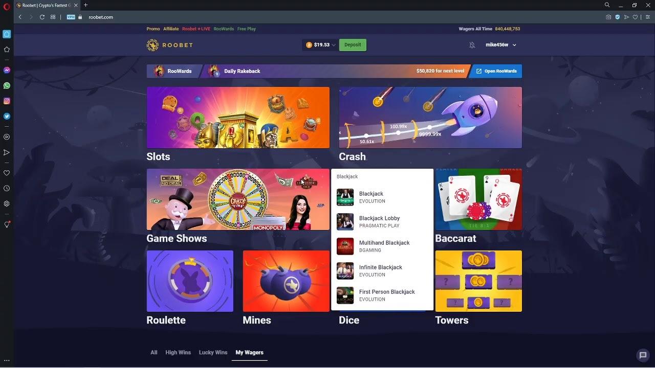 Gambling Live On Roobet!
