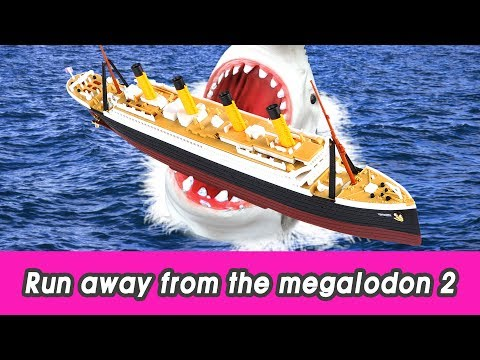 [EN] Run away from the megalodon 2! animals animation, animals for kids, collectaㅣCoCosToy