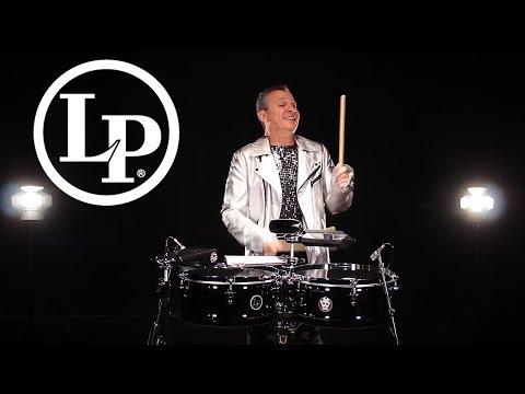 "LP257-KP LP LATIN PERCUSSION 14/"" STICKS 15/"" KARL PERAZZO TIMBALES DRUMS STAND"