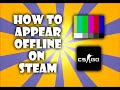 How to appear offline to your friends on Steam!
