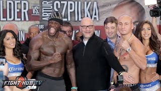 Deontay Wilder Vs. Artur Szpilka COMPLETE Weigh In And Face Off Video