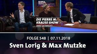 Die Pierre M. Krause Show vom 06.11.2018 mit Sven Lorig & Max Mutzke