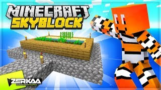MAKING A SUGAR AND WHEAT FARM IN THE SKY! (Minecraft Skyblock #7)