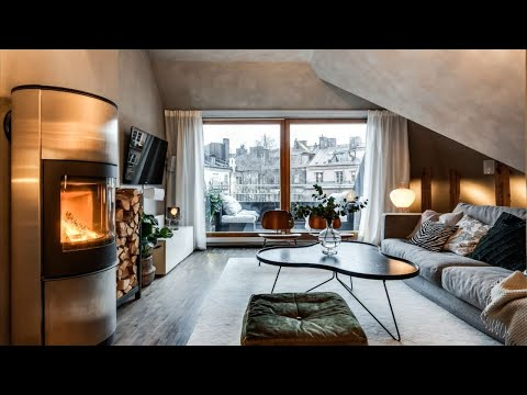 Amazing Match Of Modern & Scandinavian Style In Attic Apartment 🍍