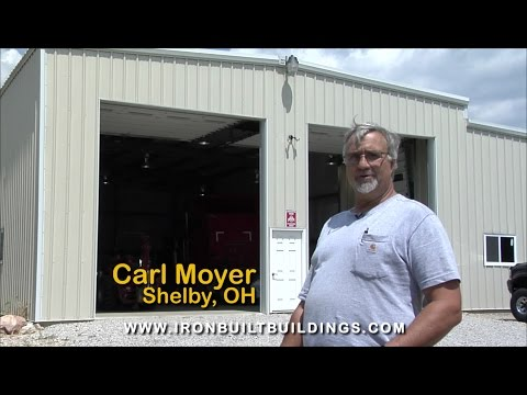 Truck Steel Garage Building in Ohio by Ironbuilt
