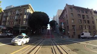 MUNI Powell-Hyde Line Cable Car - Market to Beach (GoPro)