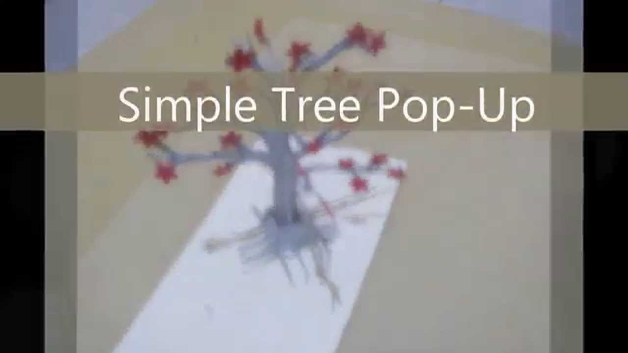 Free Popup Template Simple 3D Tree Pop Up YouTube