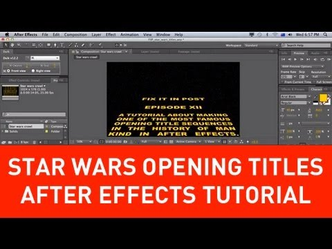 star wars opening title crawl tutorial in after effects - youtube, Powerpoint templates