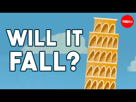 Video image: Why doesn't the Leaning Tower of Pisa fall over? - Alex Gendler