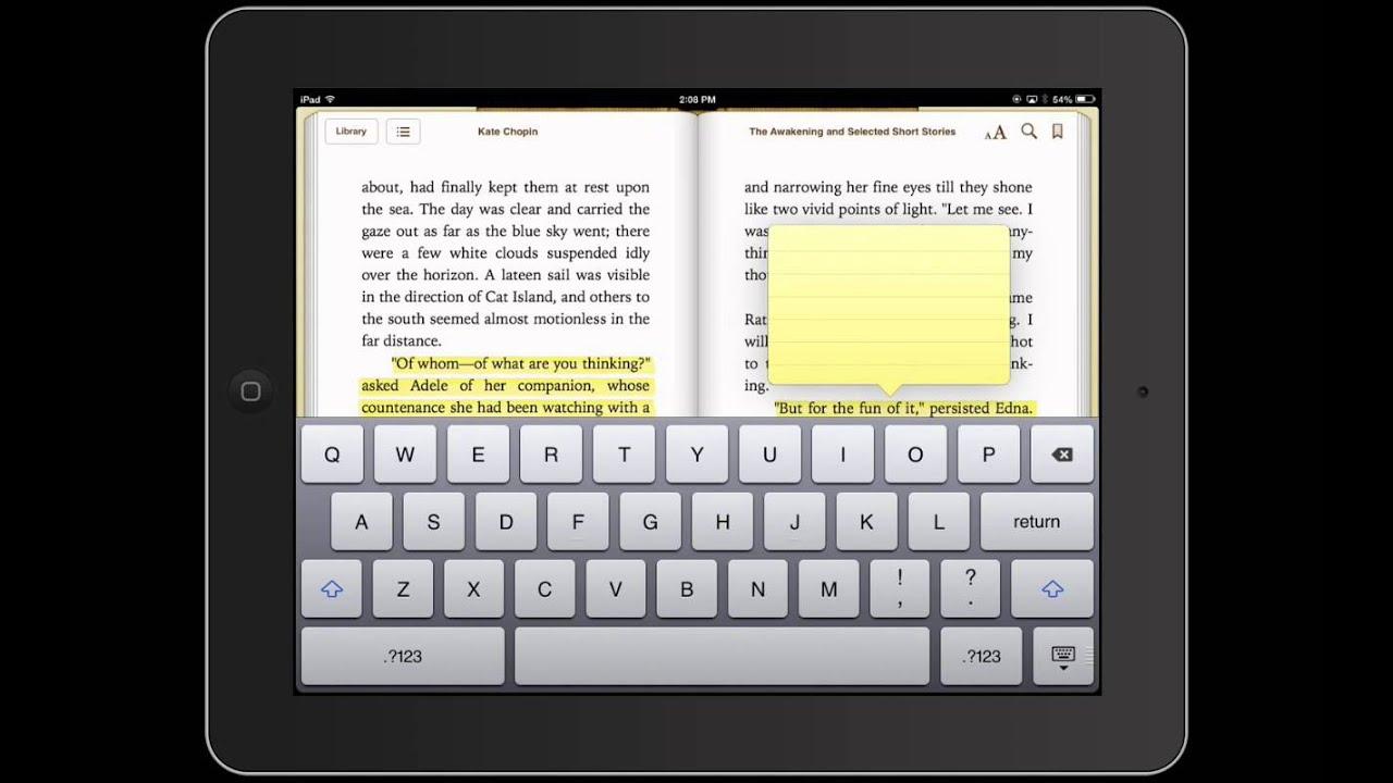 Ibookshighlighting, Annotating And Sharing Notes