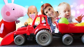 Беби Бон учится ходить! – Маша Капуки и Карл в видео для детей Мамина Школа – Игрушки для малышей