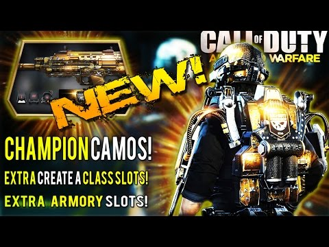 COD AW: NEW Championship Premium Customization Pack | NEW Weapon CAMO, Extra Armory & Class Slots!