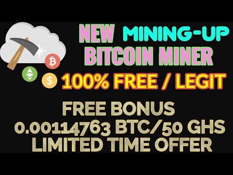 Get Free 0.00114763 BTC – 50 GHs Limited Time | New  BITCOIN CLOUD MINING SITE 'Mining-Up' Reviews.